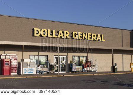 Greensburg - Circa November 2020: Dollar General Retail Location. Dollar General Is A Small-box Disc