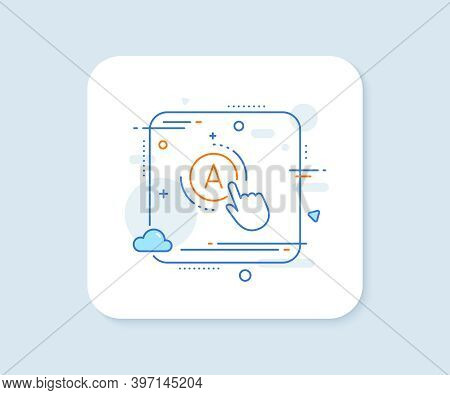 Ab Testing Line Icon. Abstract Square Vector Button. Ui Test Button Sign. Ab Testing Line Icon. Qual
