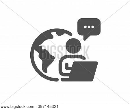 Outsource Work Icon. Freelance Job Sign. Remote Employee Symbol. Quality Design Element. Flat Style