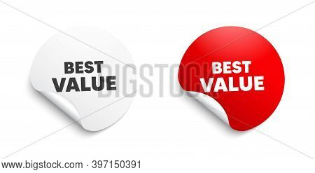 Best Value. Round Sticker With Offer Message. Special Offer Sale Sign. Advertising Discounts Symbol.