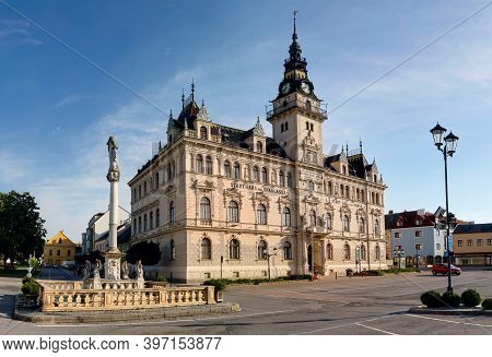 Morning View Of The Town Hall In Laa An Der Thaya In Lower Austria