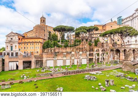 Roman Forum And Capitoline Hill In Rome, Italy