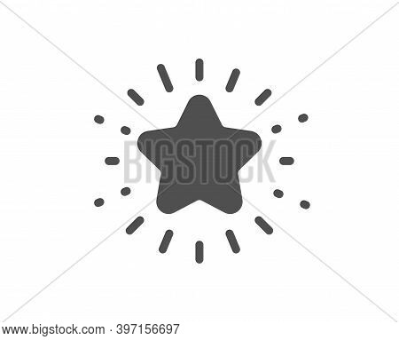 Twinkle Star Icon. Best Ranking Sign. Favorite Symbol. Quality Design Element. Flat Style Twinkle St