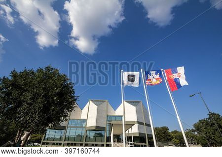 Belgrade, Serbia - July 20, 2018: Museum Of Contemporary Arts Of Belgrade During A Sunny Afternoon.