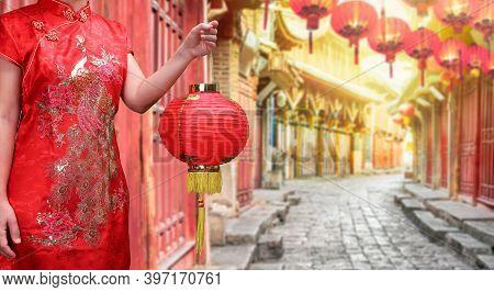 Chinese Old Town In The Morning , Lijiang Yunnan ,china