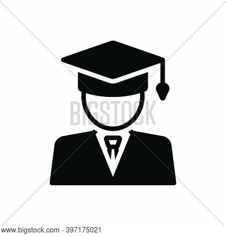 Black Solid Icon For Student People University Graduation Education Degree Bachelor Graduation-cap A
