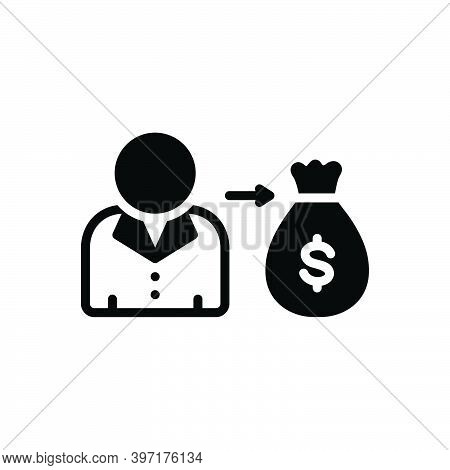 Black Solid Icon For Its Money His Her Your Mine Wage Currency Allure Attractiveness Interest