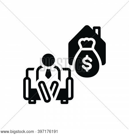 Black Solid Icon For Retire Armchair Deposit Elderly Money Give-up-work Retirement Old-age Wealth Pe