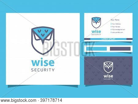 Shield And Owl Logo. Shield Design Vector With Owl
