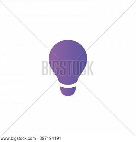 Light Lamp Sign Icon. Idea Symbol. Gradient Color Stock Vector Illustration