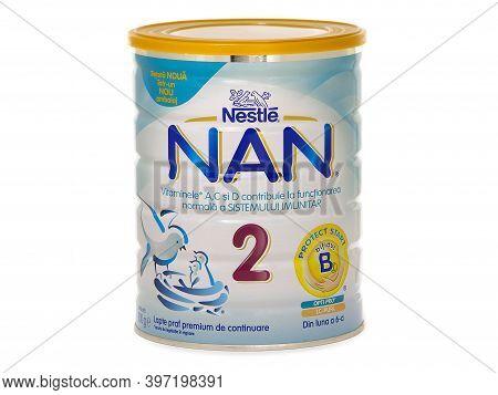 Bucharest, Romania - July 12, 2016. Nestle Nan 2, Follow-up Milk Formula For Babies After 6 Months