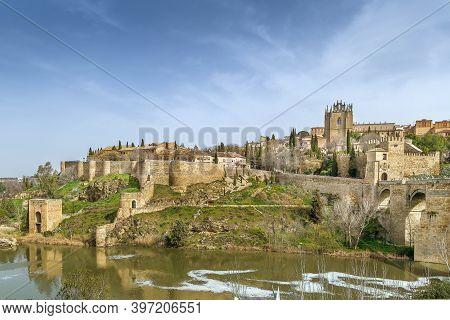 View Of  Monastery Of San Juan De Los Reyes (monastery Of Saint John Of The Monarchs) From Tagus Riv