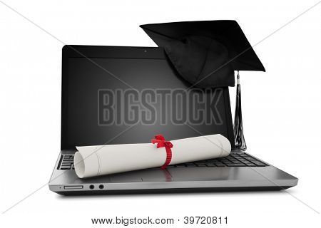 Diploma and laptop