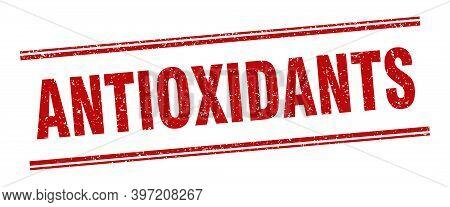 Antioxidants Stamp. Antioxidants Label. Square Grunge Sign