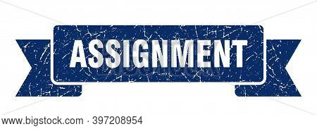 Assignment Ribbon. Assignment Grunge Band Sign. Assignment Banner