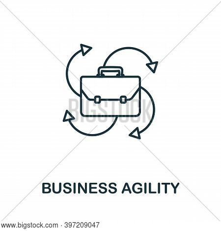 Business Agility Icon. Line Style Element From Agile Collection. Thin Business Agility Icon For Temp
