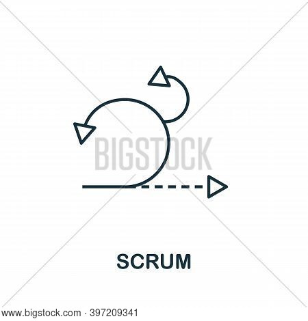 Scrum Icon. Line Style Element From Agile Collection. Thin Scrum Icon For Templates, Infographics An
