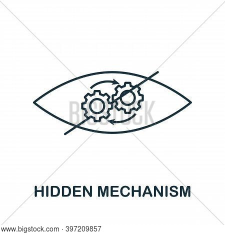 Hidden Mechanism Icon. Simple Element From Business Technology Collection. Filled Hidden Mechanism I
