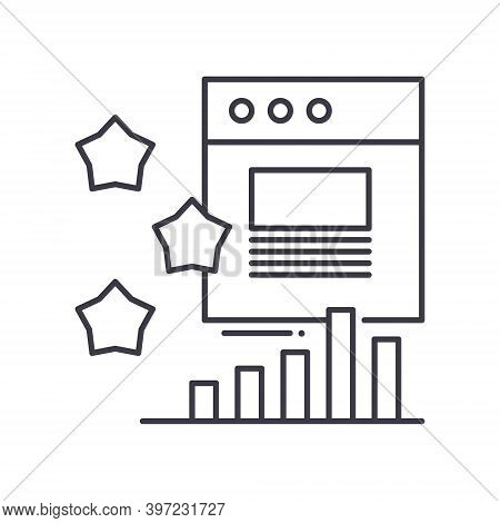 Impressions Rate Concept Icon, Linear Isolated Illustration, Thin Line Vector, Web Design Sign, Outl