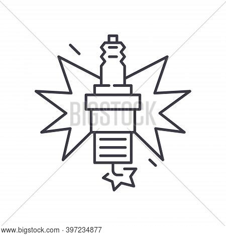 Halogen Lamp Icon, Linear Isolated Illustration, Thin Line Vector, Web Design Sign, Outline Concept