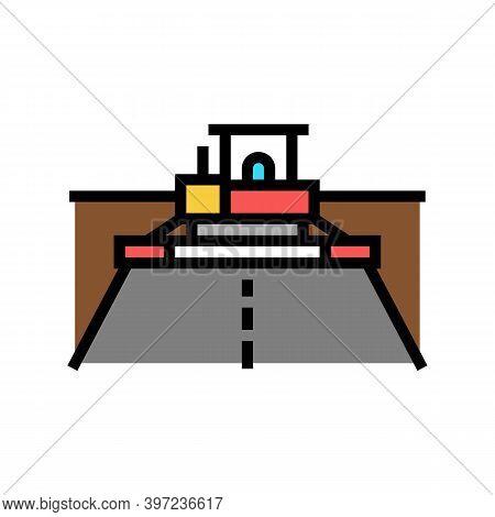 Asphalt Paver Equipment Color Icon Vector. Asphalt Paver Equipment Sign. Isolated Symbol Illustratio