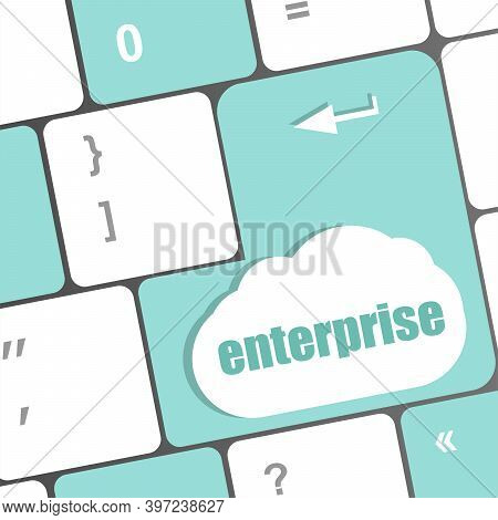 Concept Of E-commerce Or Ecommerce, Enterprise, With Message On Computer Keyboard