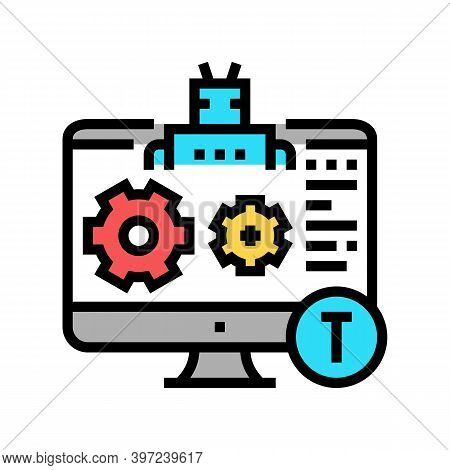 Automatical Repair Incident Color Icon Vector. Automatical Repair Incident Sign. Isolated Symbol Ill