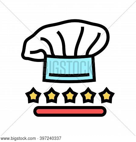 Cook Chef Review Color Icon Vector. Cook Chef Review Sign. Isolated Symbol Illustration