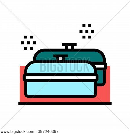 Pans Kitchen Ware For Cooking Color Icon Vector. Pans Kitchen Ware For Cooking Sign. Isolated Symbol