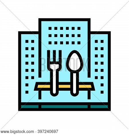Hotel Catering Service Color Icon Vector. Hotel Catering Service Sign. Isolated Symbol Illustration
