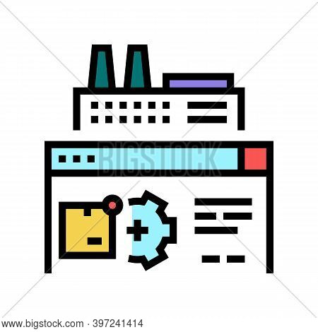 Factory Manufacturing Automation Color Icon Vector. Factory Manufacturing Automation Sign. Isolated