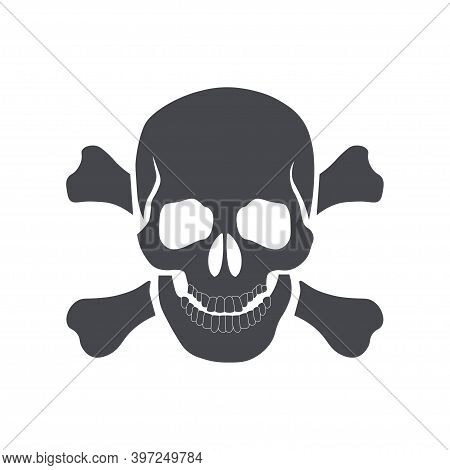 Skull And Crossbones Icon. Sign Of Danger Or Poison To Life. Template Design For Web Or Mobile App.