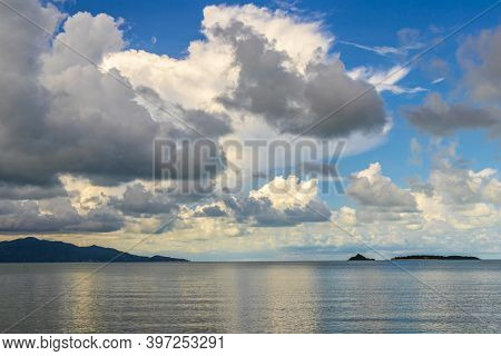 Bo Phut Beach Koh Samui Island, View On Pha-ngan.
