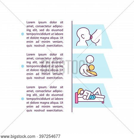 Breastfeeding Positions Concept Icon With Text. Side-lying Positioning. Koala Hold. Kangaroo Care. P
