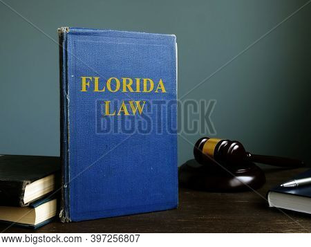State Florida Law Book In The Court.