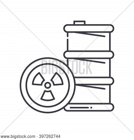 Hazardous Waste Icon, Linear Isolated Illustration, Thin Line Vector, Web Design Sign, Outline Conce