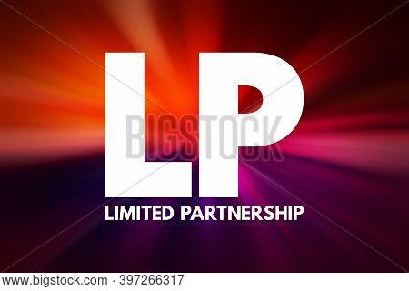 Lp - Limited Partnership Acronym, Business Concept Background