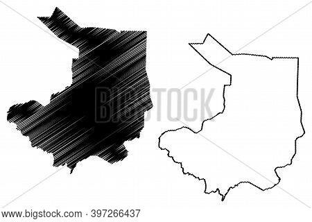 Central Equatoria State (states Of South Sudan, Equatoria Region) Map Vector Illustration, Scribble