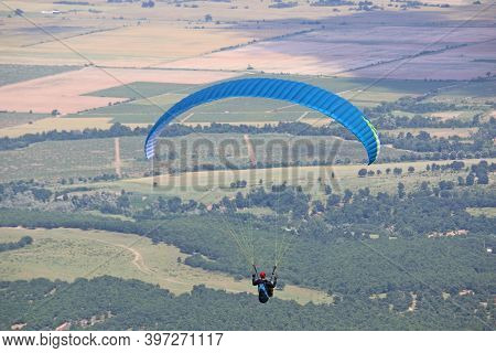 Paraglider Flying Wing From Dobrostan In Bulgaria