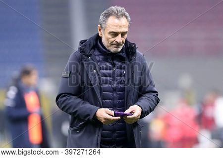 Milano, Italy. 29th November 2020. Cesare Prandelli, Head Coach  Of Acf Fiorentina    During The Ser
