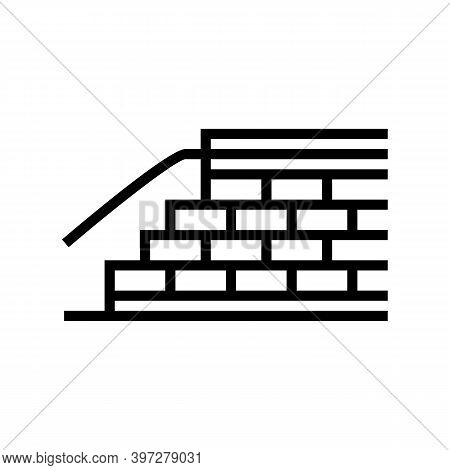 Embankment Construction Line Icon Vector. Embankment Construction Sign. Isolated Contour Symbol Blac