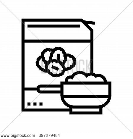 Cereals Oat Package Line Icon Vector. Cereals Oat Package Sign. Isolated Contour Symbol Black Illust