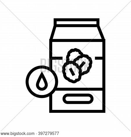 Milk Oat Package Line Icon Vector. Milk Oat Package Sign. Isolated Contour Symbol Black Illustration