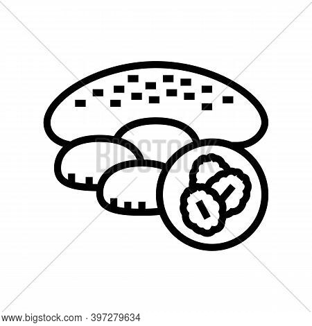 Oatmeal Baked Dessert Line Icon Vector. Oatmeal Baked Dessert Sign. Isolated Contour Symbol Black Il
