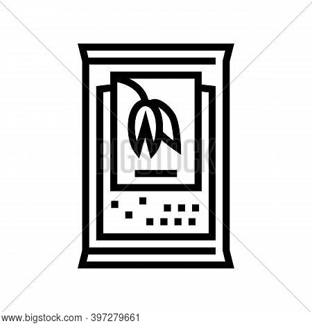 Portion Bag Oatmeal Line Icon Vector. Portion Bag Oatmeal Sign. Isolated Contour Symbol Black Illust