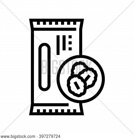 Cereal Bar Line Icon Vector. Cereal Bar Sign. Isolated Contour Symbol Black Illustration