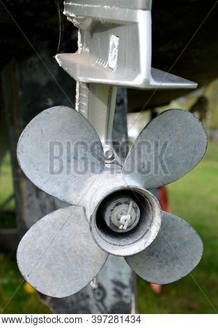 Ship Propeller Gray Propeller For Motor Boat Engine