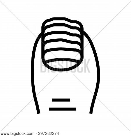 Nail Fungus Line Icon Vector. Nail Fungus Sign. Isolated Contour Symbol Black Illustration