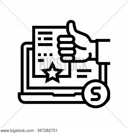 Incident Repair Service Review Line Icon Vector. Incident Repair Service Review Sign. Isolated Conto