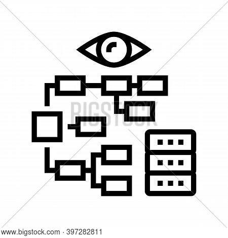 Problem Hierarchy Vision Line Icon Vector. Problem Hierarchy Vision Sign. Isolated Contour Symbol Bl